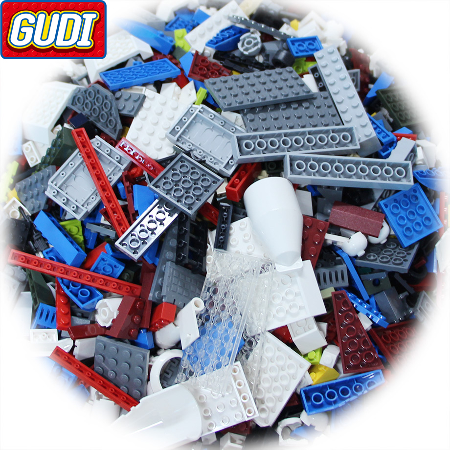 GUDI Blocks 1kg Random Brick Building Blocks City Street DIY Creative Educational Toys For Children Designer Compatible Legoings