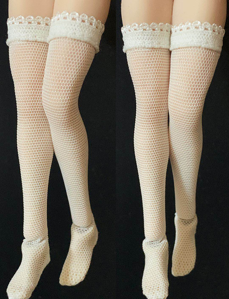 Customize 1//6 White Lace Socks Stockings Figure Accessories