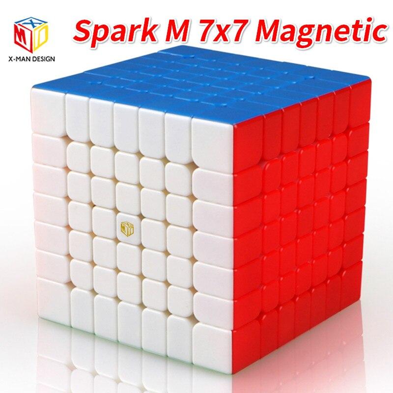 Mofangge x-man Design SparkM 7X7 Cube magnétique Qiyi Spark M 7x7x7 vitesse Cubes WCA Puzzle Cube magique Puzzle jouets pour enfants