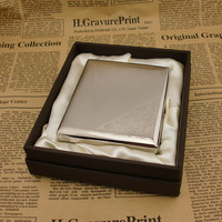 square 20, thick nickel wire drawing laser upscale boutique cigarette case, men's gifts