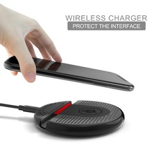 Fast Wireless Charger Pad Qi-Enabled Crafted with Style Wireless Charging Dock for iPhone XS/XS Max/8 Plus Samsung S8 S9