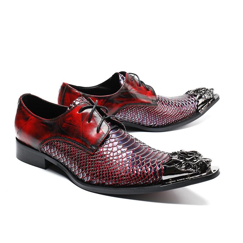 Sapatos De Itália Genuíno Hombre 1 Negócios Ata Beertola Couro Vestido Estilo Snake Red Moda Imprimir Acima Zapatos Flats Masculina Loafers 7qCRCv6w