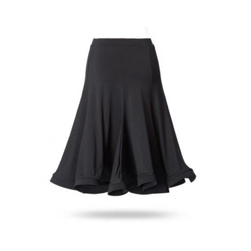 fashion new sexy skirts Womens Latin Tango Cha Cha Square Ballroom Flare Dance knee elegant Skirt High Waist jupe femme