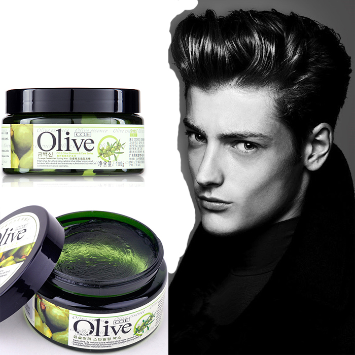 Olive Pomade Shaping Bulkness100g Fluffy Curled Hair Styling Wax Cream Mud  Hair Hard Up Gel Salon Quality Hair Care Product In Pomades U0026 Waxes From  Beauty ...
