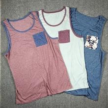3 упаковки мужской городской уличной одежды в стиле хип-хоп с карманом майка американский размер s-xl