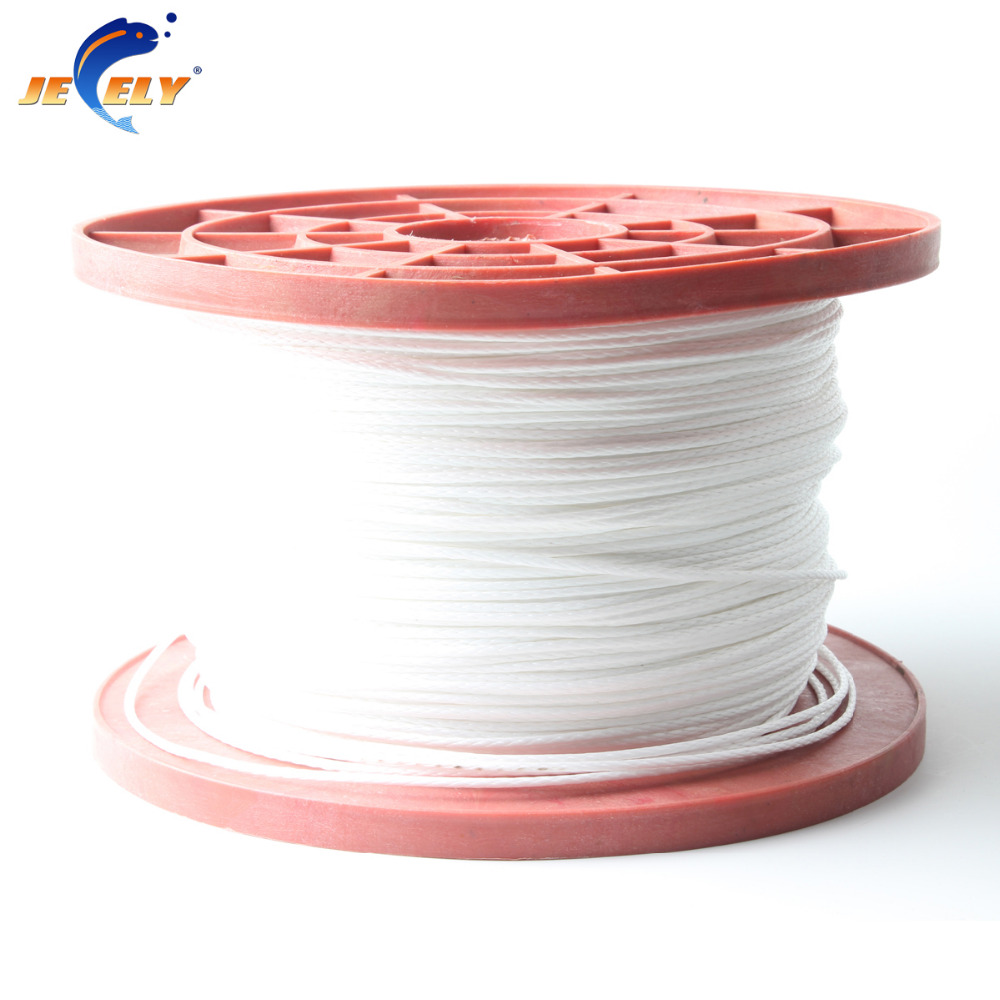 Free Shipping 100m 100kg 16 strand 1mm uhmwpe fiber braid hollow Fishing Rope Stunt Kite Line White Color free shipping 500m 4250lb sailboat rope extreme strong 4 5mm uhmwpe braided wire