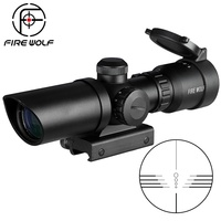 1.5 5X32 Short Scope Hunting Riflescope Red Dot Green Illuminated Optical Sight Rail 20mm Crossbows For Hunter Airsoft Weapons