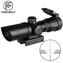 1,5 5X32 короткий оптический прицел, охотничий оптический прицел с красной точкой и зеленой подсветкой, 20 мм арбалет для охотничьего оружия, страйкбола