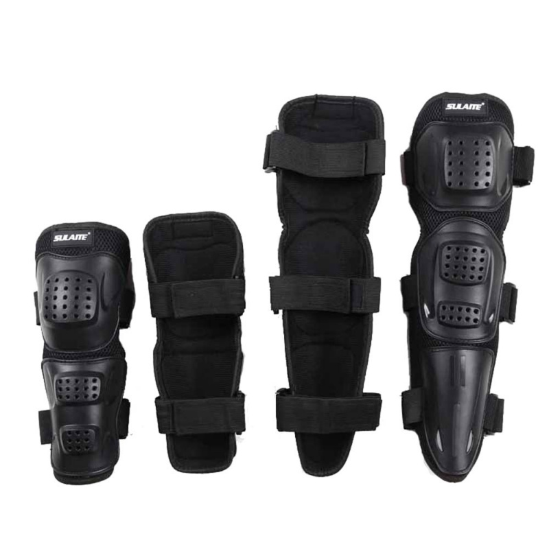4Pcs Adult Unisex Elbow Knee Pads Off-road Riding Pulley Bicycle Racing Pads Protector Support Brace Wrap Pad US Shipping
