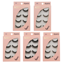 Shidishangpin 5 pairs 3D mink eyelashes natural long hand made false 1 box lashes