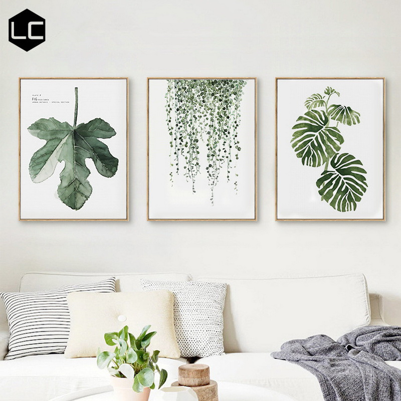 Modern Scandinavian minimalist style living room decorative painting restaurant bedroom fresh frescoes wall paintings Malerei