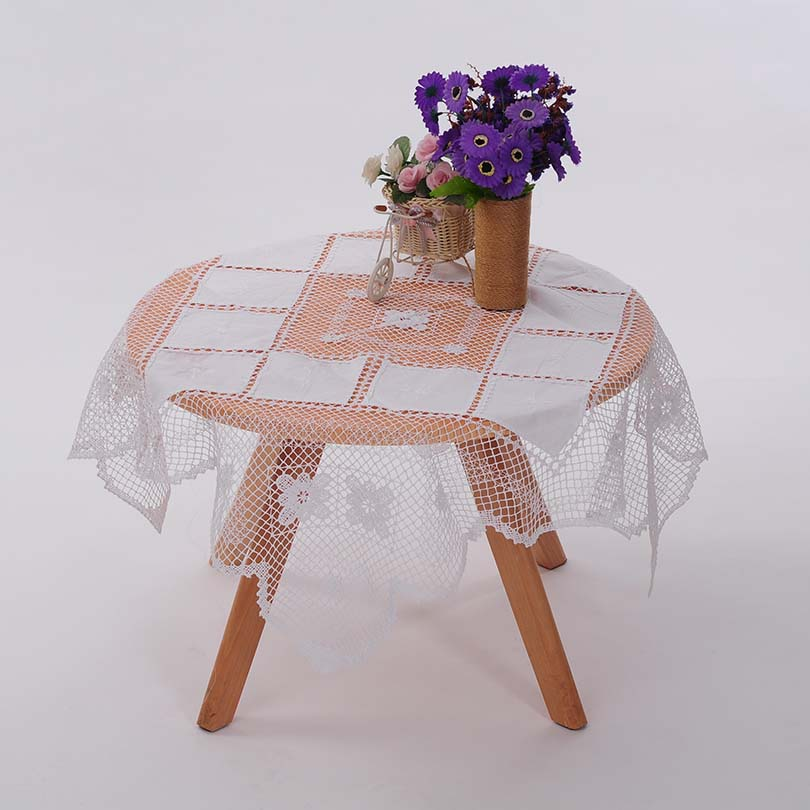 QUNYINGXIU Tafelkleed Handgemaakte Pastorale Europa Stijl Vierkante Tafelkleed Home Party Tafellakens 36 * 36 inch = 91.5 * 91.5 cm
