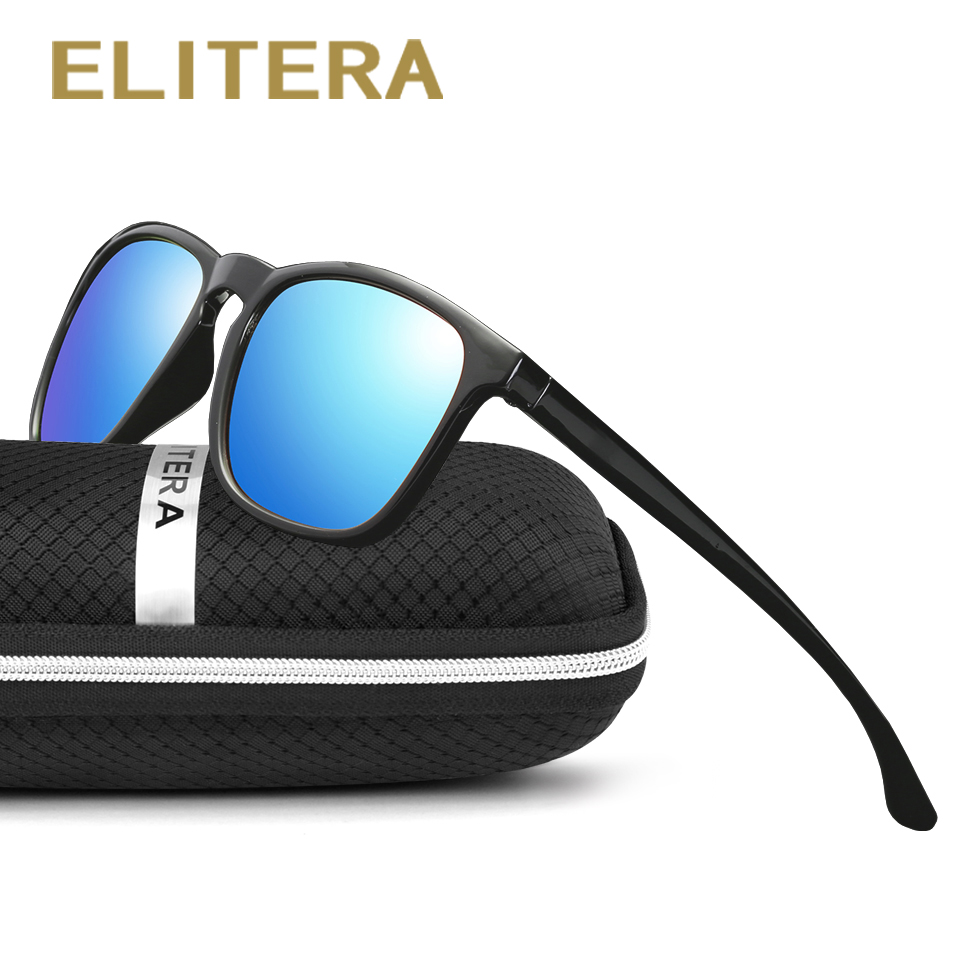 ELITERA Brand Unisex Retro Solglasögon Polarized Lens Vintage Eyewear Tillbehör Sun Glasses For Men / Women