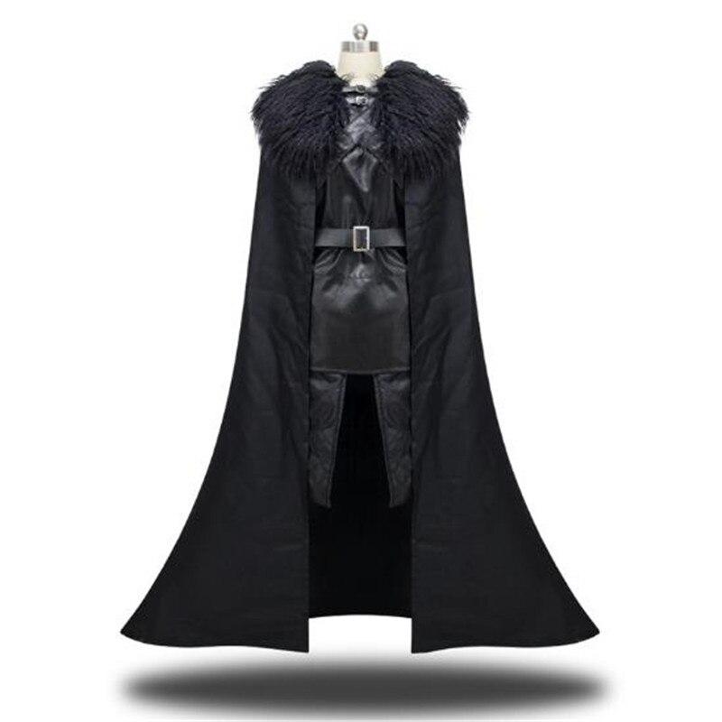 Игра престолов Джон Сноу маскарадный костюм плащ кожаная короткая юбка перчатки бахилы аксессуары для одежды