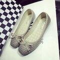 Лучший продавая горячее поклонятся плоские туфли крупногабаритных Балетная обувь с верхом трикотажные мягкое дно квартиры каблуки для женщин size35-41