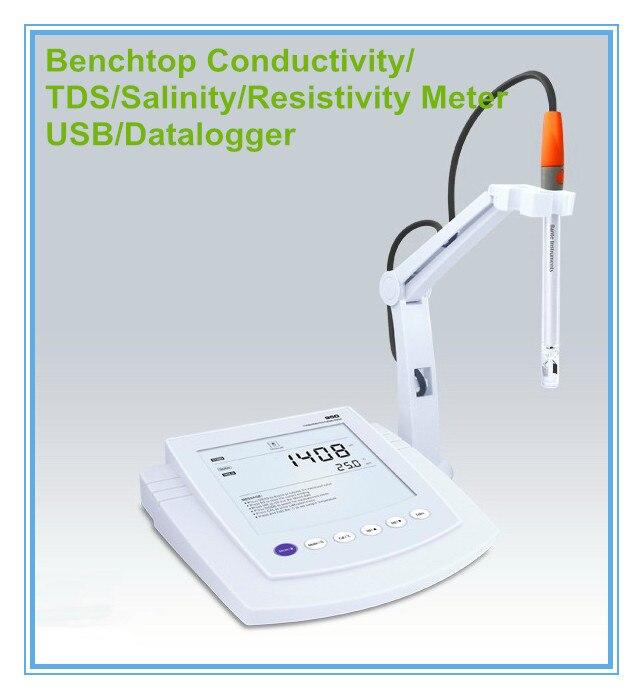 Conductivity Meter Cc 01 : Benchtop conductivity tds salinity resistivity