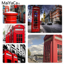 MaiYaCa New Designs london bus england telephone Large Mouse pad PC Computer mat Size for 180x220x2mm and 250x290x2mm Mousepad(China)