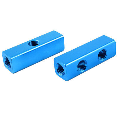 2 Pcs 13mm Thread 2 Positions Quick Connector Air Hose Manifold Block Splitter 13mm male thread pressure relief valve for air compressor