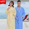 100% Algodão toweled terry Roupa Kimono Dressing Vestido Bath Robe de Pijama