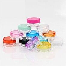 cosmetic sifter jars Pot Box Nail Art Cosmetic Bead Storage Makeup Cream Box Plastic Container Round Bottle 3*3*1.5cm недорго, оригинальная цена