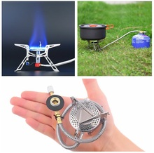 HWUltralight Dpower  Aluminum Alloy Stainless Steel Outdoor Burn Camping Gas Stove Gas-powered Stove with Piezo Ignition Hiking
