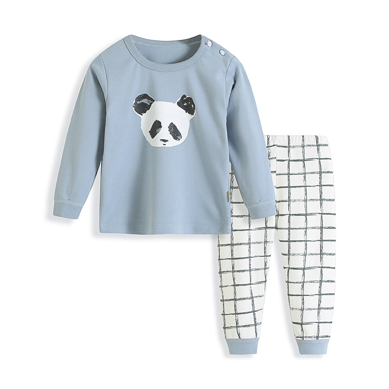 Kids   Pajamas     Sets   for 2-6Y 2019 New Boys Cotton Soft Print Panda Pyjamas Children Girls Spring Long Sleeve Sleepwear Pyjama Baby