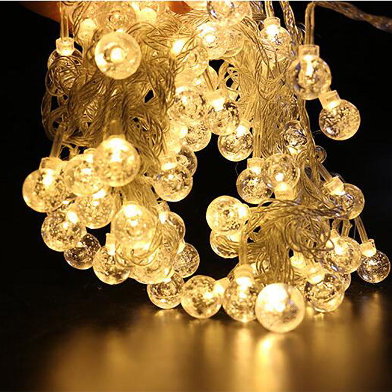 3M 20LED 6M 40LED Bubble Ball String Lights Christmas Fairy Garlands Outdoor Battery Flash For Holiday Xmas Party Garden Decor