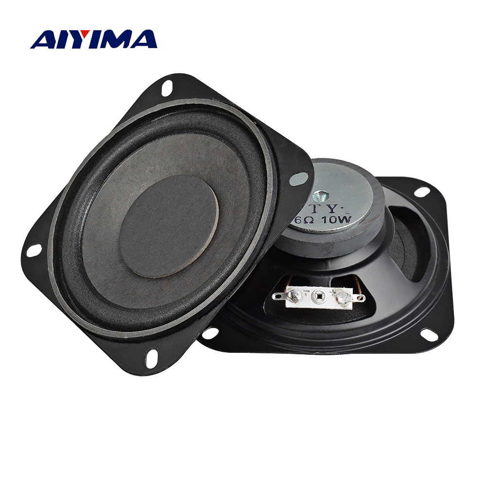 AIYIMA 2Pcs 4Inch Audio Portable Subwoofer Speakers 6Ohm ...