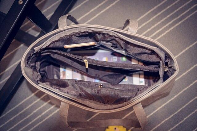 Women Scrub Leather Handbag Black Grey Causal Tote Bag Large Capacity Shoulder bag Shopping Luxury Handbags Women Bags Designer 1
