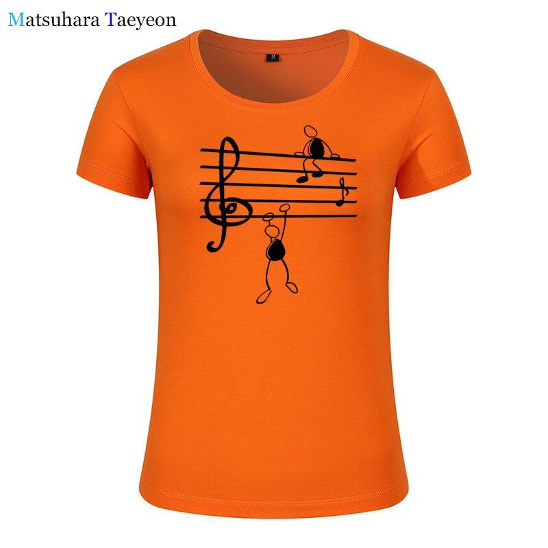 Fashion Women clothing Music Notes Funny Print Tee T shirt Women Top Short Sleeve Female tops clothing t shirt Brand for in T Shirts from Women 39 s Clothing