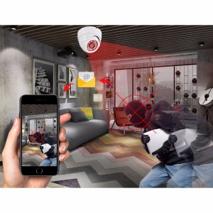 Image 5 - AZISHN 2MP Real Time 25FPS Beveiliging Audio IP Camera 1080P ONVIF CCTV Indoor Dome Microfoon P2P E mail Bewegingsdetectie 48V POE