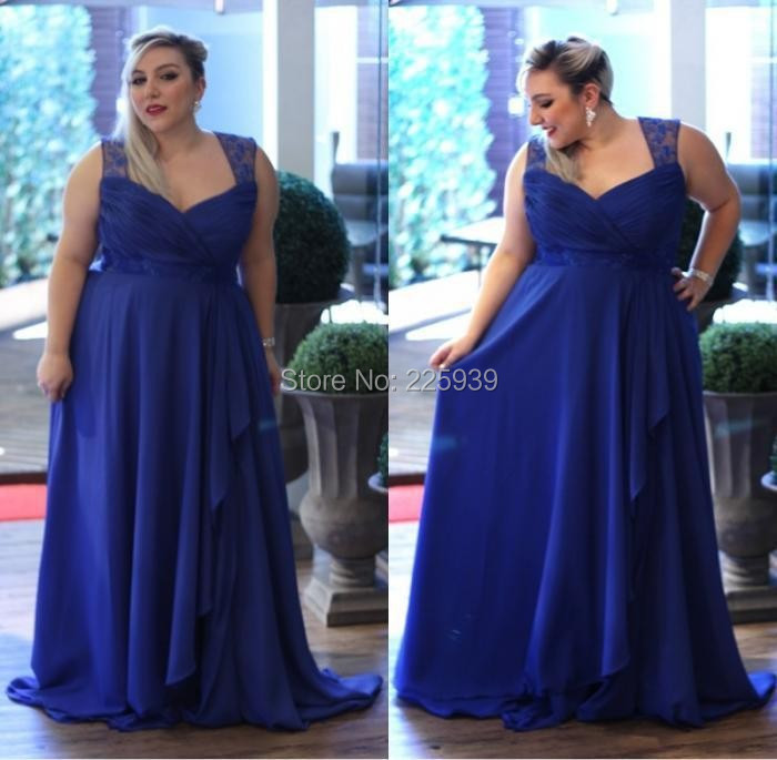 Popular Plus Size Royal Blue Evening Dress-Buy Cheap Plus Size ...