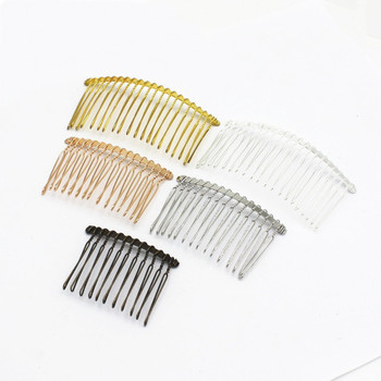 Гребень для волос SEA MEW, 5 шт., модный стиль, металлический сплав, гребень для волос, пустая основа, 15/20 зубцов для женщин, гребень для волос для свадьбы, для ювелирных изделий
