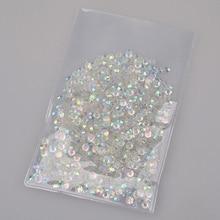 1000pcs/pack 4mm Shiny Acrylic Nail Art Glitter AB Rhinestone Crystal Flatback Beads Tools DIY 3D Tips Decoration Phone Manicure