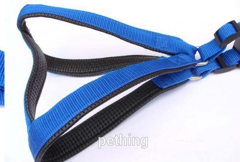 padded large dog harness nylon foam cat dog puppy leash harness pets lead set 3colours size S M L