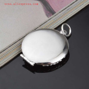 Image 5 - sublimation locket new round necklaces pendants blank thermal transfer printing women  necklace pendant consumables 15pcs/lot