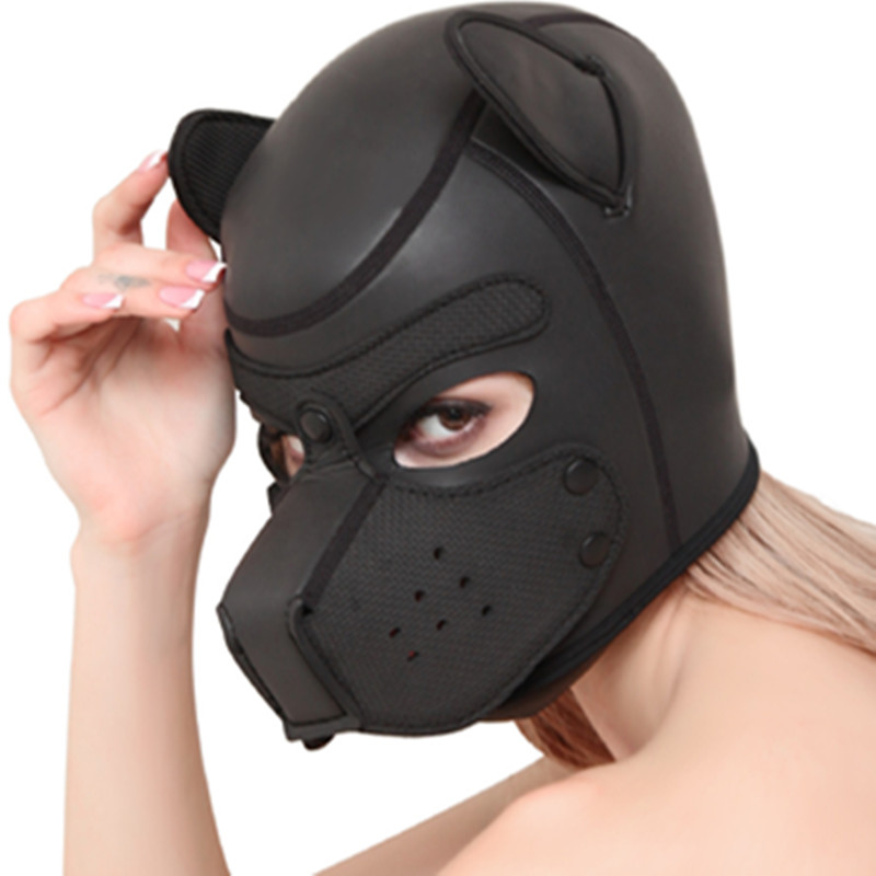 Eye Mask Rubber Hood Headgear Adult Games Bondage Slave Couples Flirting Toys Sex Products For Women Men Gay Exotic Accessories
