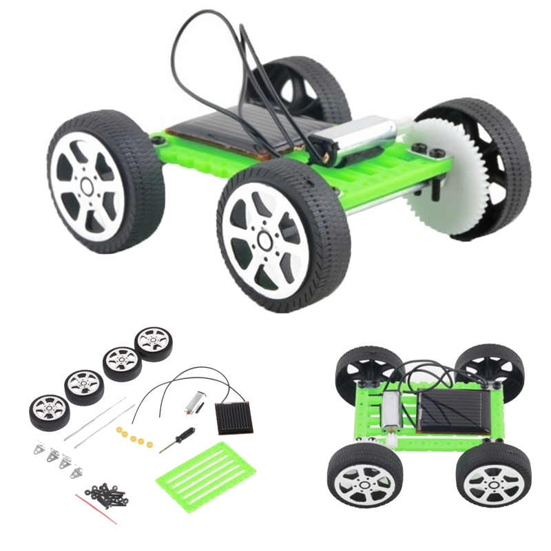 Pop DIY Robot Solar Power Mini Powered Toy Car Kit Moving Racer Children Educational Teaching Hobby Creative Solar Car Kit Toys solar powered magic autonomous mini car toy