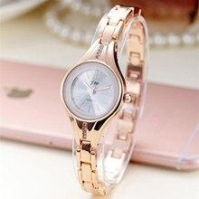 JW Rose Gold Quartz Watch Women Clock Luxury Brand Stainless steel Bracelet watches Ladies Dress Crystal Wristwatches relogio