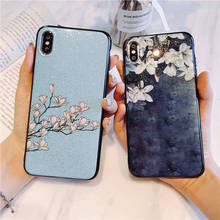Glitter vintage flower case For Oneplus 6 6T T Back cover oneplus6 5 5t 1+6 1+5 capa coque fundas shell