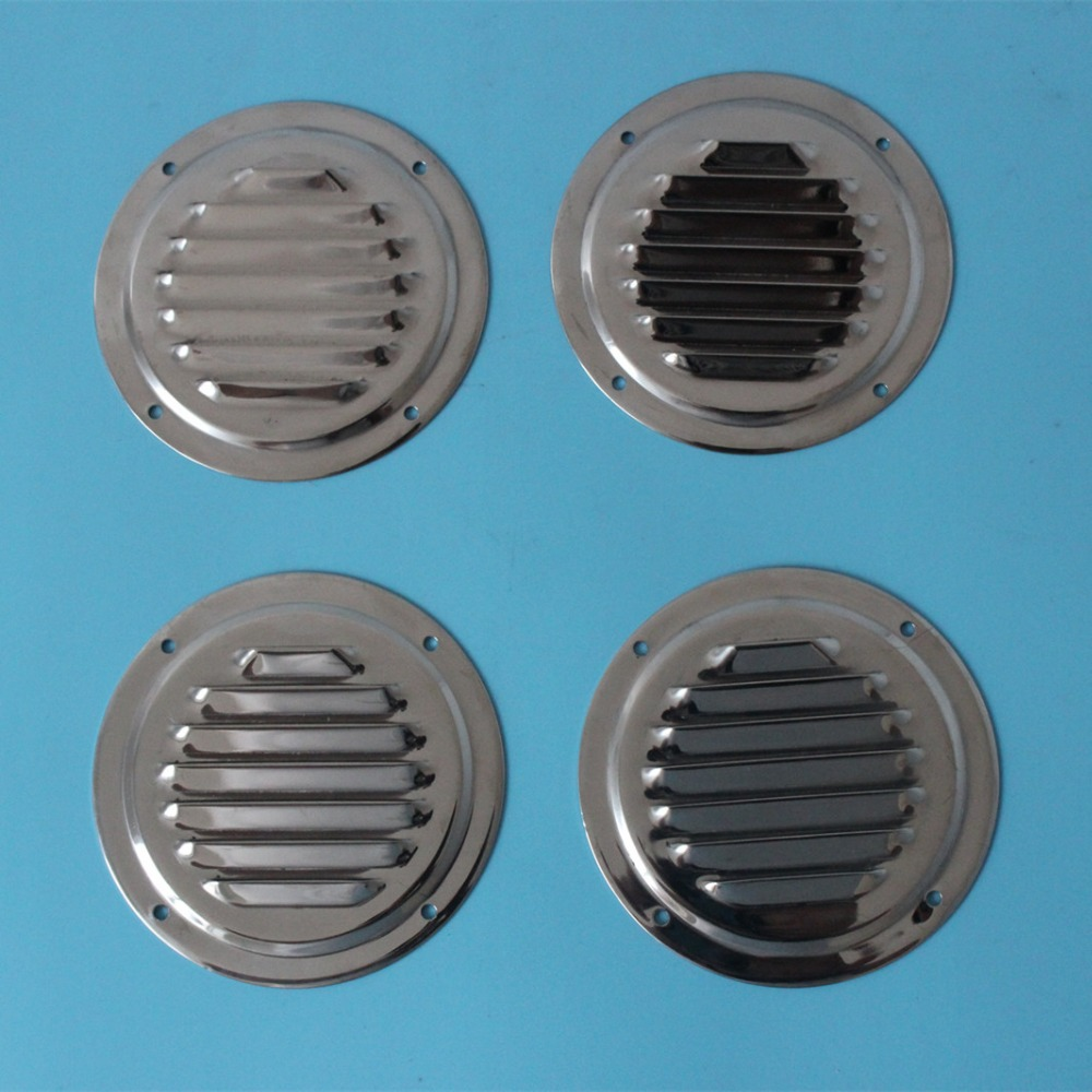 4X Circular Stainless Steel Air Vent Grille Covers High