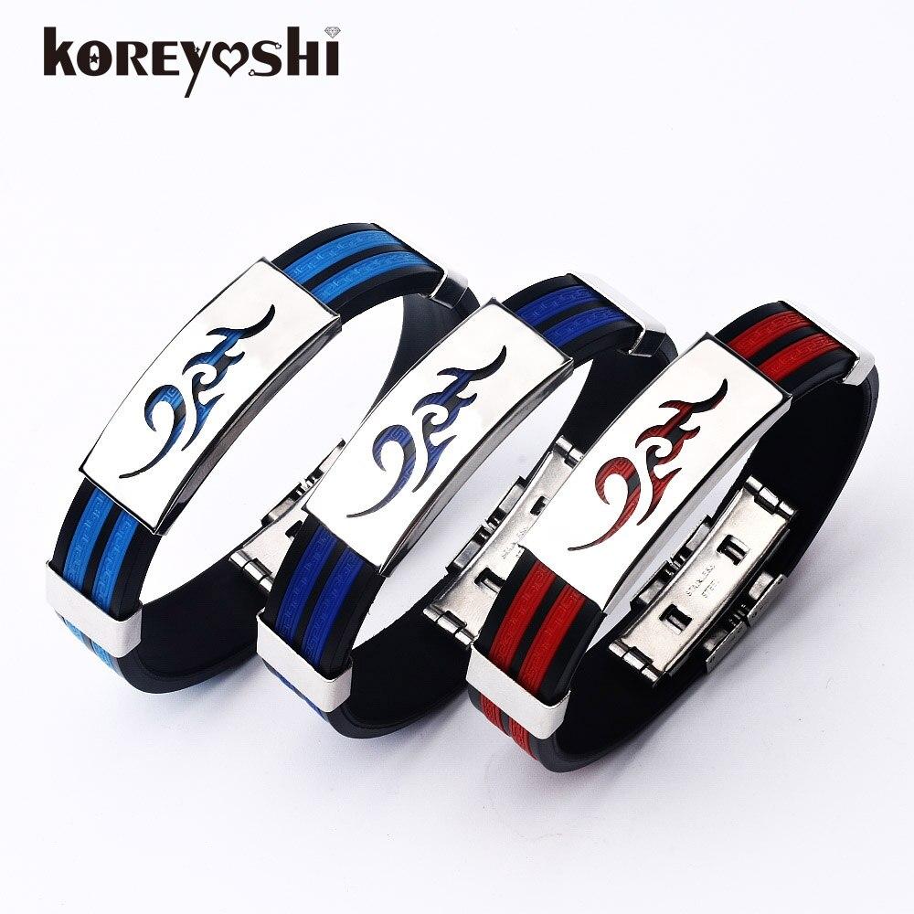 pulseira masculina 2016 rubber bands bracelets bangles stainless steel bracelets homme. Black Bedroom Furniture Sets. Home Design Ideas