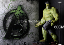 EMS Free Shipping Marvel The Avengers Hulk Super Big PVC Action Figure Collectible Model Toy 24