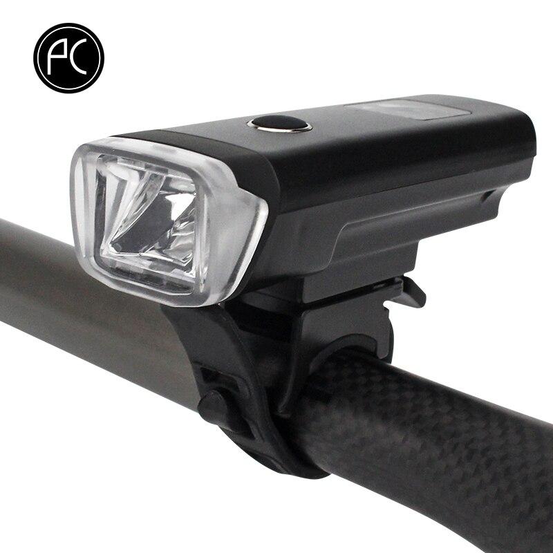 PCycling Vélo Avant Lumière Smart Sensor Bike Light 350 Lumens 4 Modes USB Rechargeable Intelligente Lampe de Poche Lampe Étanche