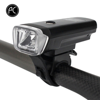 PCycling Bicycle Front Light Smart Sensor Bike Light 350 Lumens 4 Modes USB Rechargeable Lights Flashlight