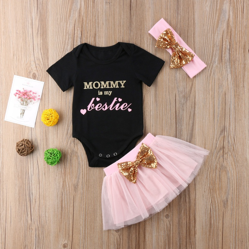 Infant Newborn Baby Girl Black Princess Romper Baby Bodysuit Costume Outfit