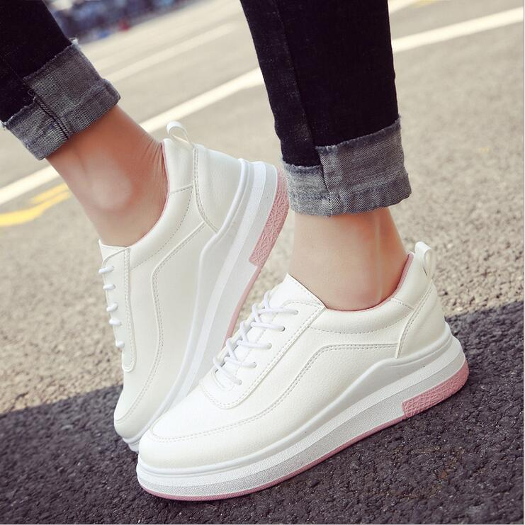 Women casual Fashion Sneakers Shoes Lace Platform Loafers Slip On Breathable New