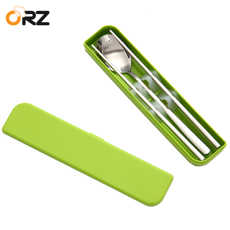 ORZ Portable Tableware Set Outdoor Travel Camping Picnic Cutlery Set Case Kitchen Household Dinnerware Set For Lunch Bento Box