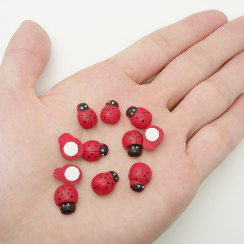 Toys Stakes Decorative Self-Adhesive-Sticker Scrapbooking Ladybird-Ladybug Wooden Garden