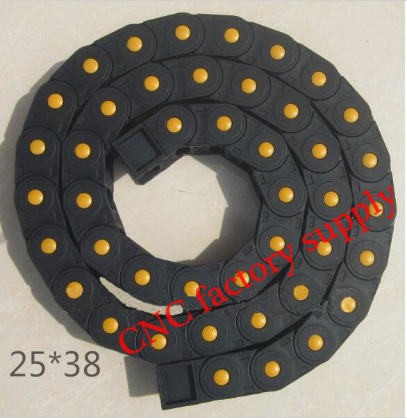 Free Shipping  1M 25*38 mm  Plastic Cable Drag Chain For CNC Machine,Fully Closed Type ,PA66Free Shipping  1M 25*38 mm  Plastic Cable Drag Chain For CNC Machine,Fully Closed Type ,PA66